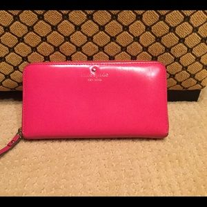 Kate Spade pink leather large wallet